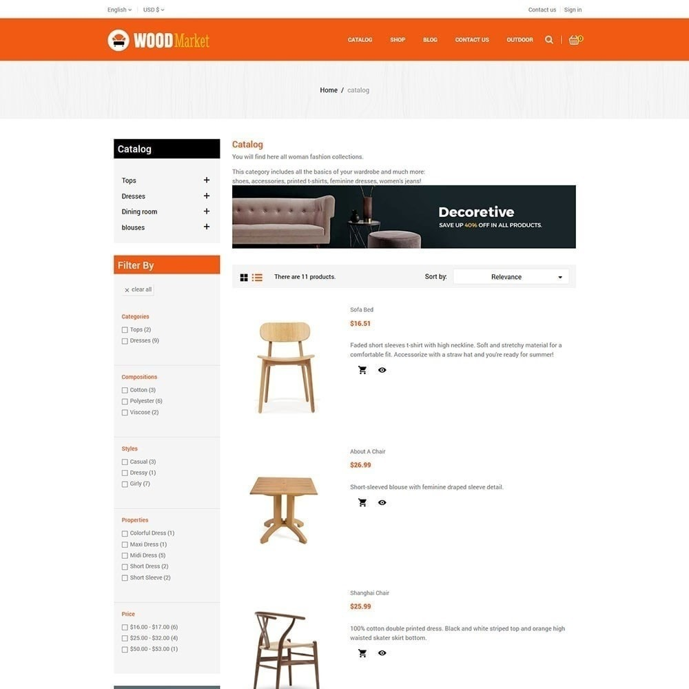 theme - Home & Garden - Wood Furniture Store - 4