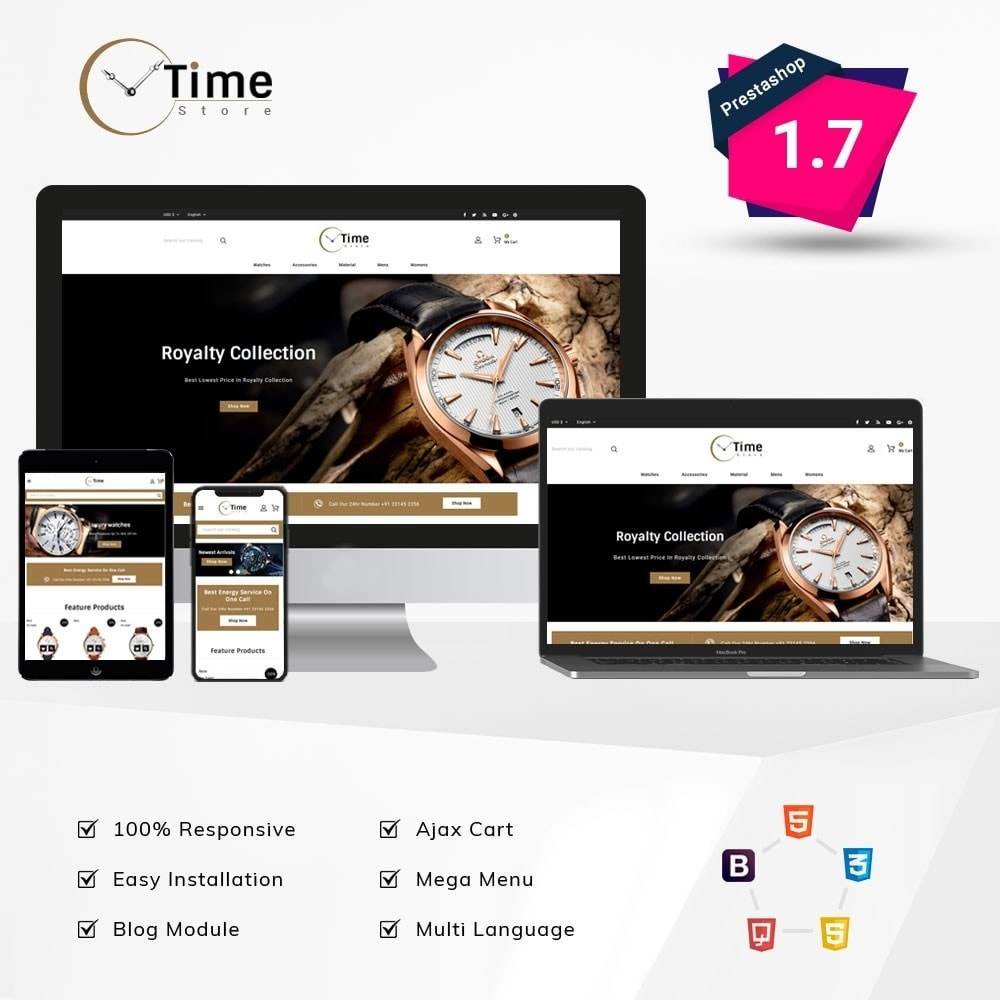 theme - Jewelry & Accessories - Time Store -Watch - 1
