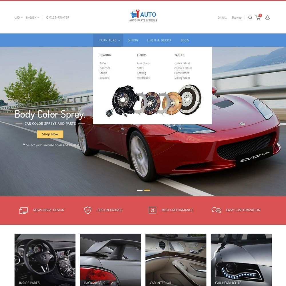 theme - Automotive & Cars - Auto Parts Store - 9