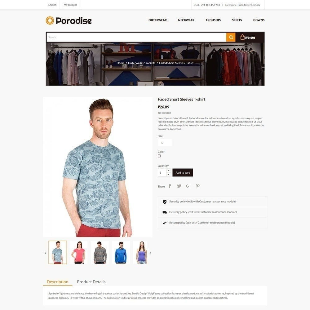 theme - Mode & Chaussures - Paradise - Magasin de mode - 5