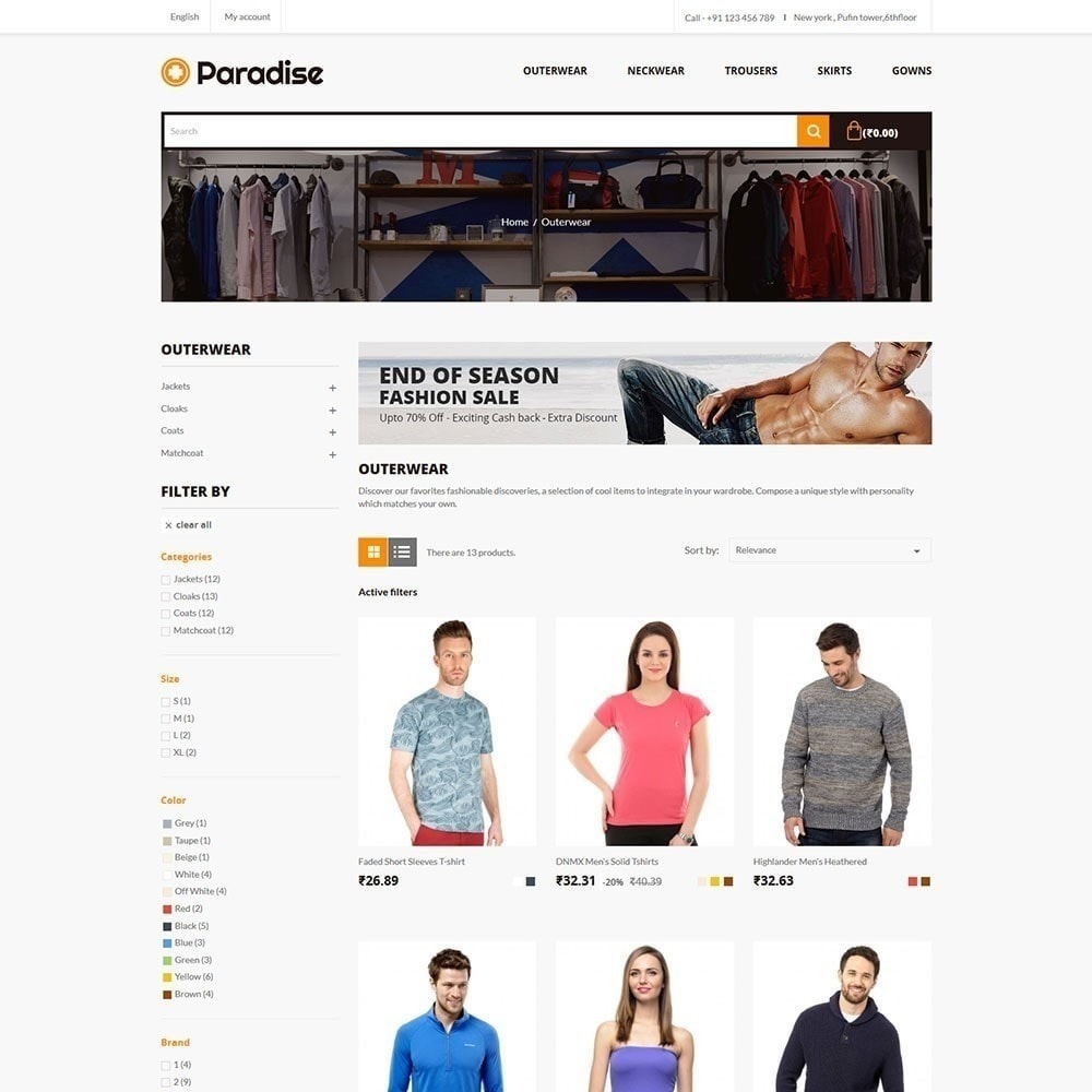 theme - Moda y Calzado - Paradise - Fashion Store - 3