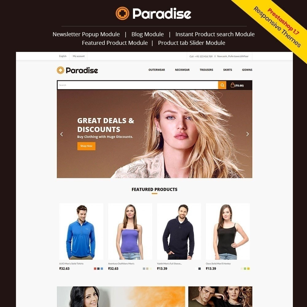 theme - Moda & Calçados - Paradise - Loja de moda - 1
