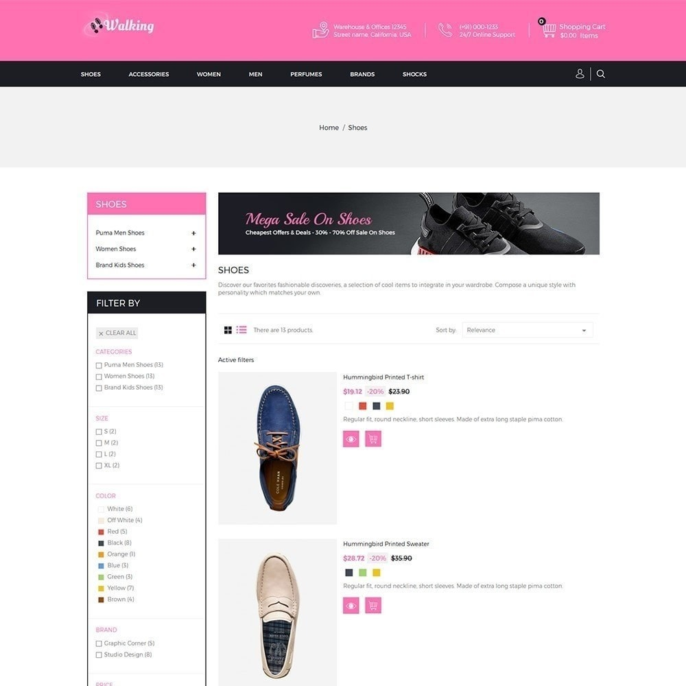 theme - Fashion & Shoes - Walking - Shoes Store - 4
