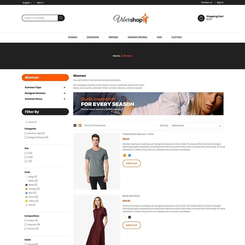 theme - Fashion & Shoes - Viber - Fashion Store - 4