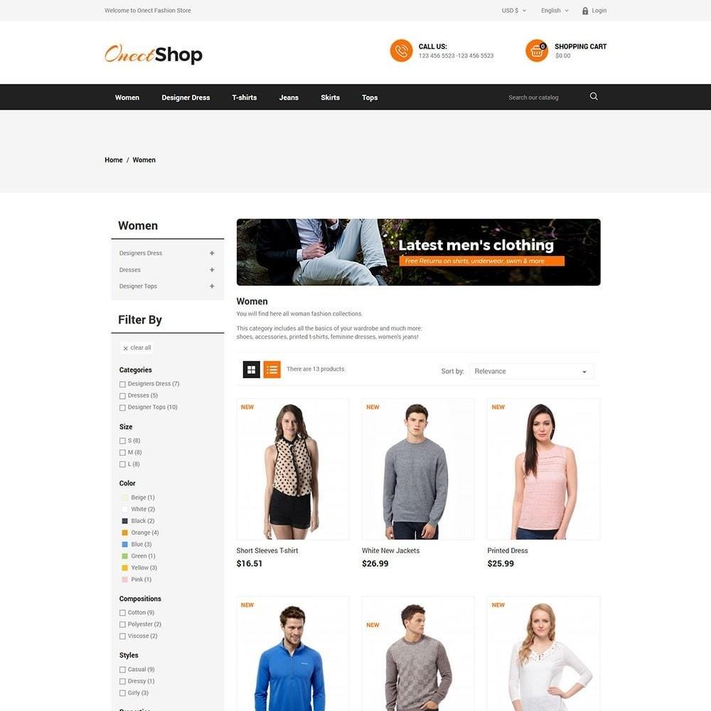 theme - Fashion & Shoes - Onect - Fashion Store - 3