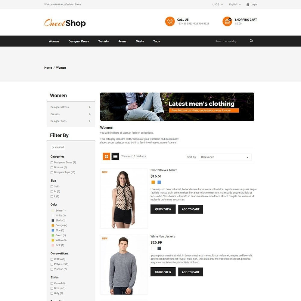theme - Fashion & Shoes - Onect - Fashion Store - 4