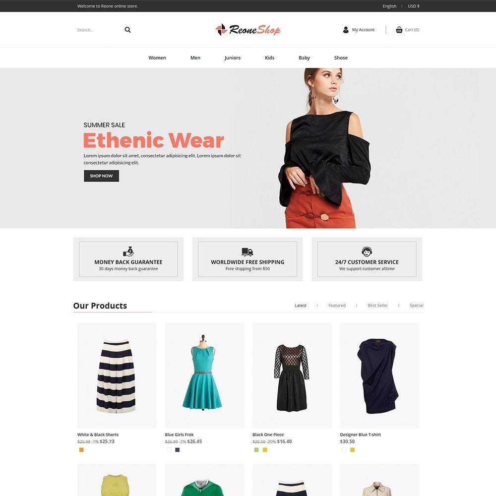 theme - Fashion & Shoes - Reone - Fashion Store - 2