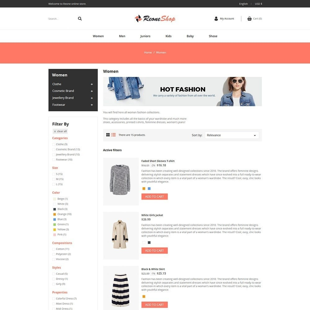 theme - Fashion & Shoes - Reone - Fashion Store - 4
