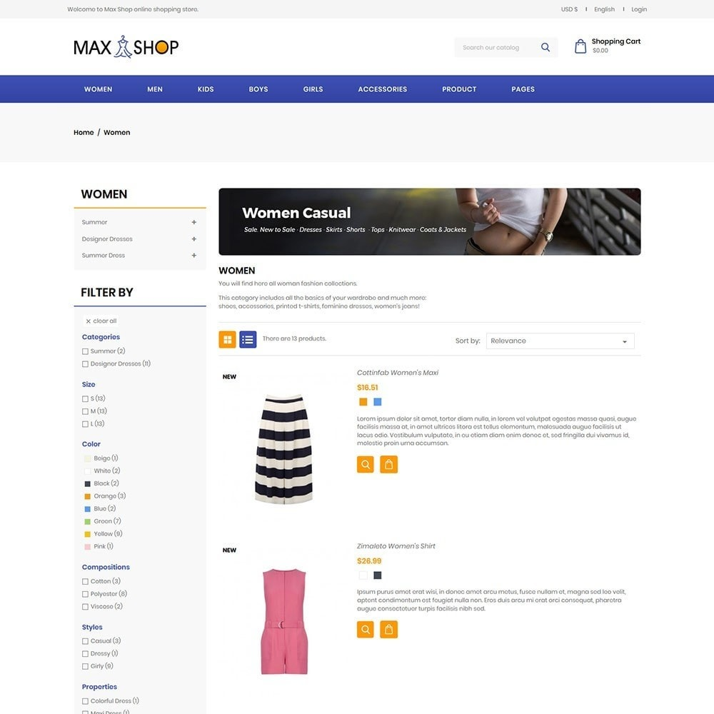 theme - Fashion & Shoes - Maxshop Designer  - Fashion Store - 4