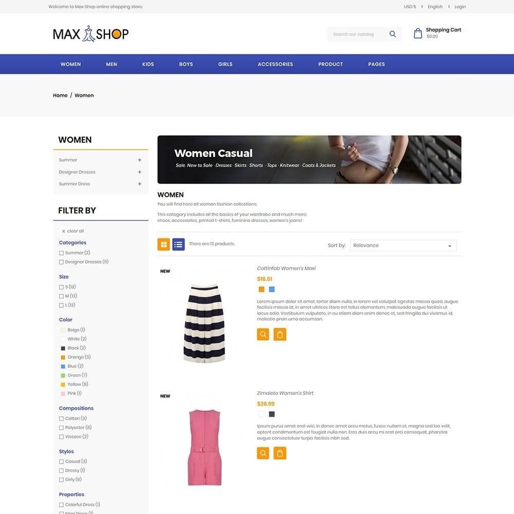 theme - Fashion & Shoes - Maxshop - Fashion Store - 4