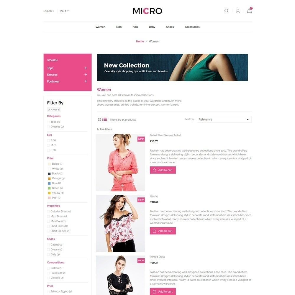 theme - Mode & Chaussures - Micro magasin de mode - 5