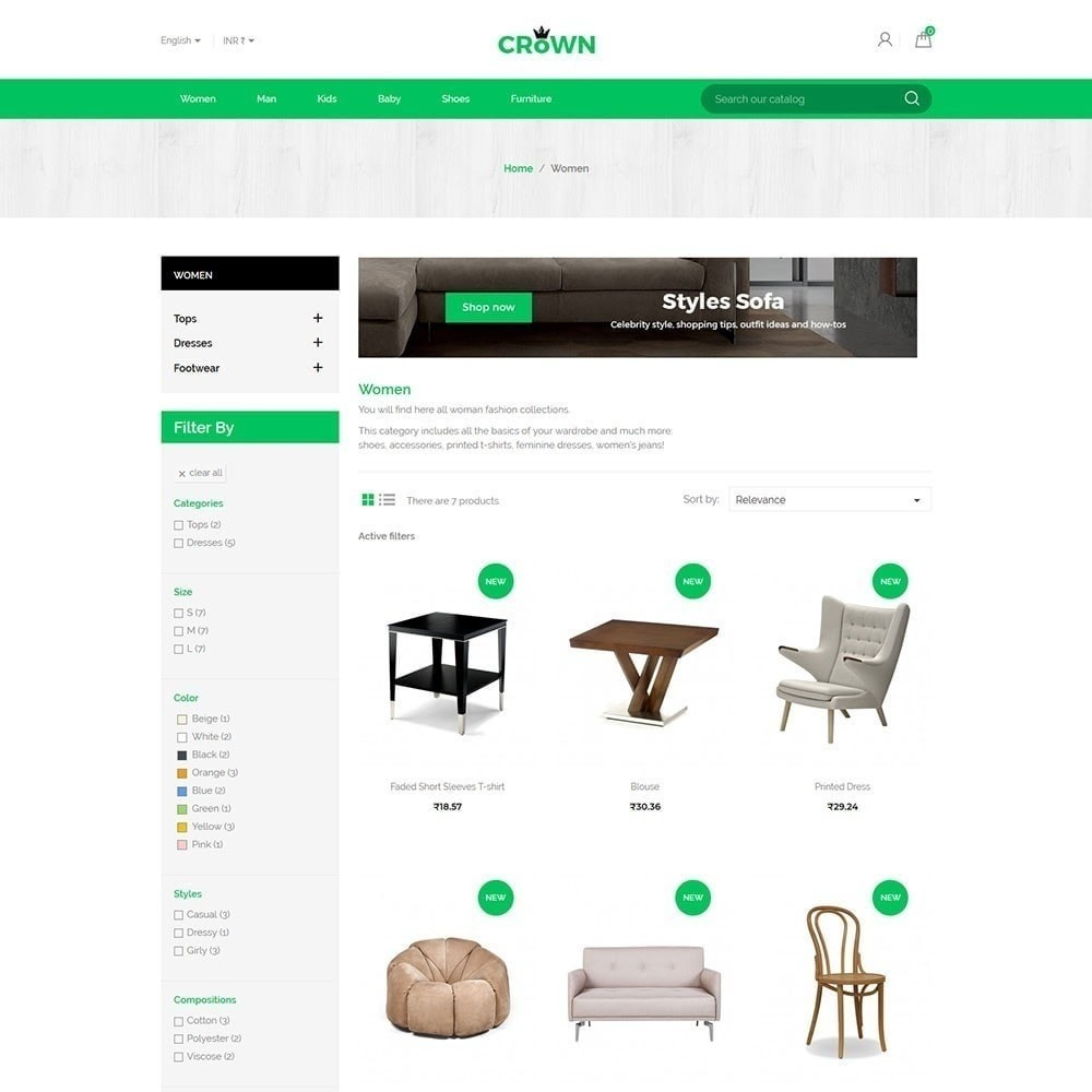theme - Maison & Jardin - Thème de magasin de meubles de couronne - 2