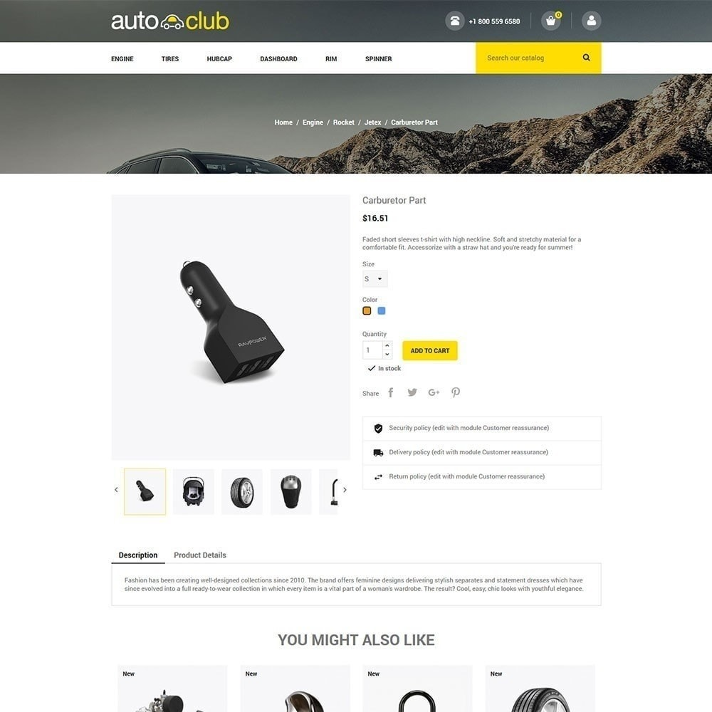 theme - Auto & Moto - Parte automatica - Tool Store - 4