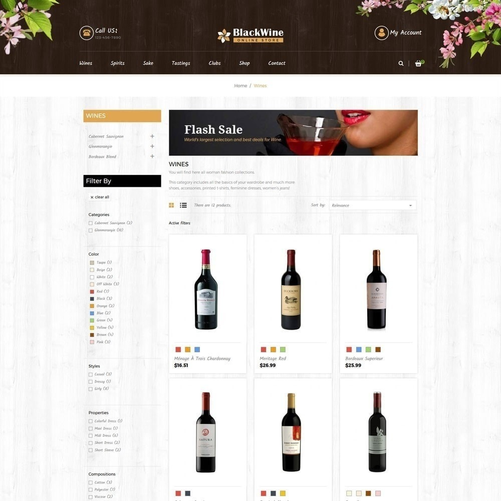 theme - Напитки и с сигареты - Магазины вина - 3