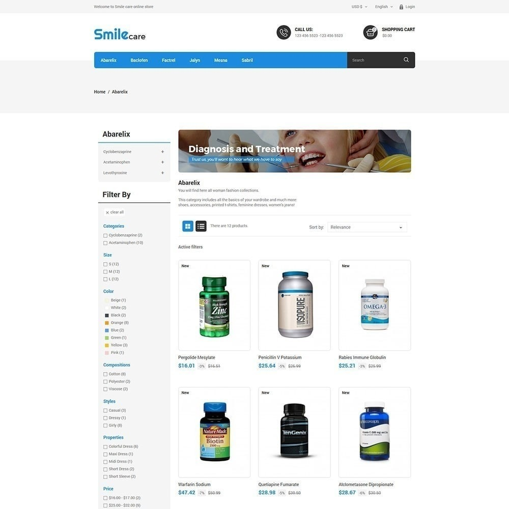 theme - Salud y Belleza - Smilecare - Health Beauty Drug Store - 3
