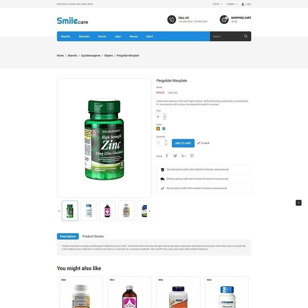 theme - Saúde & Beleza - Smilecare - Loja de produtos de saúde e beleza - 5