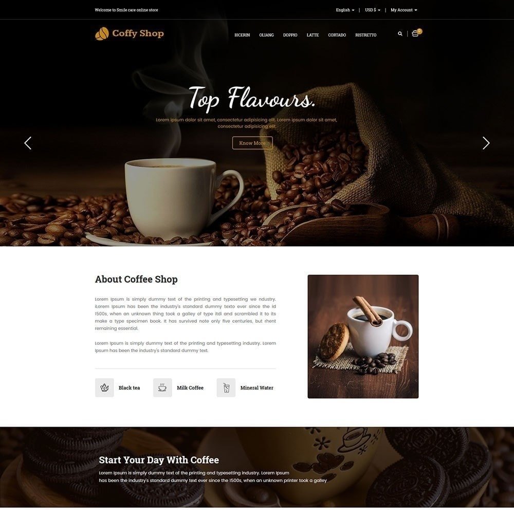 theme - Alimentation & Restauration - Magasin de café - 2