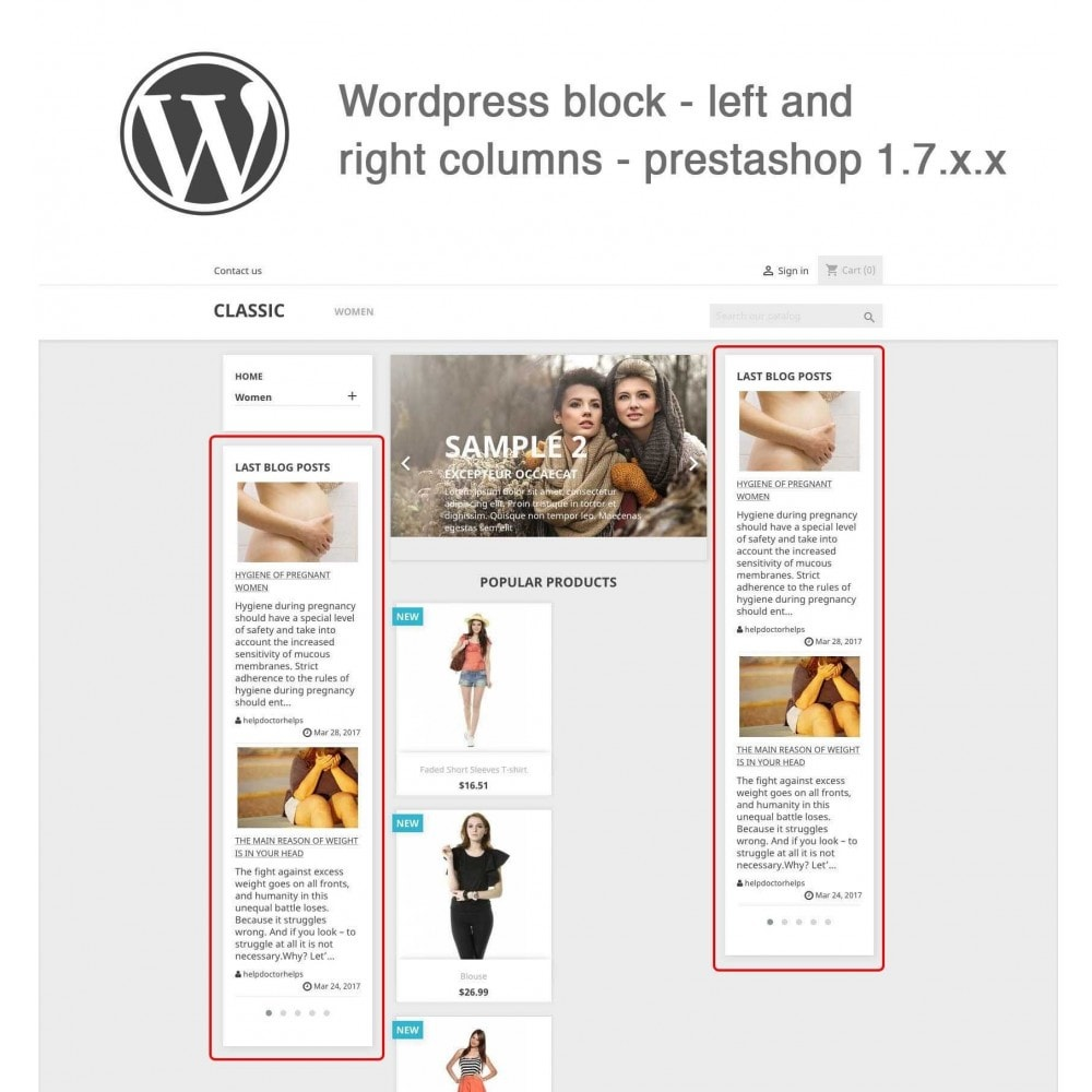module - Blog, Forum & Actualités - Block Last Wordpress Blog Posts - 1