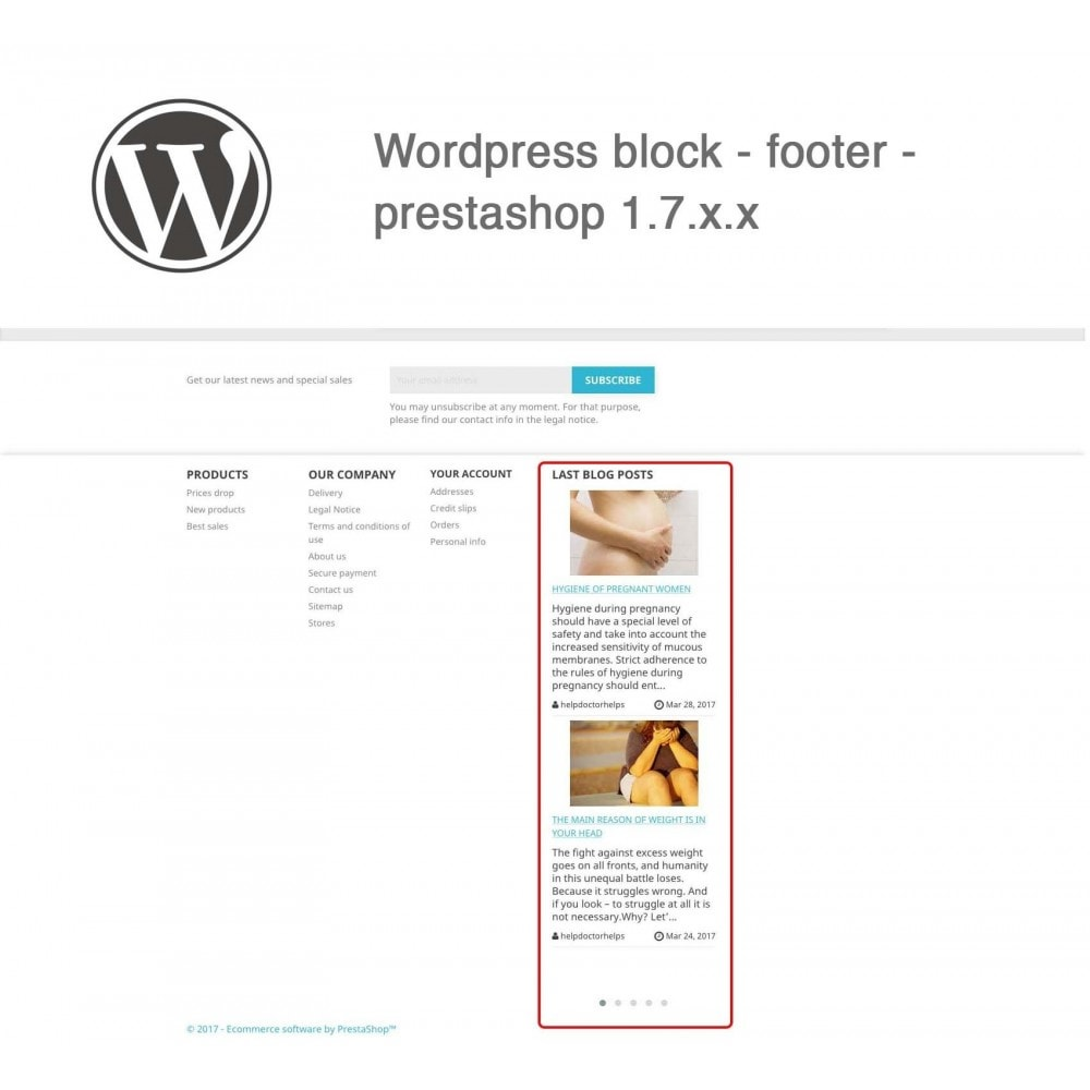 module - Blog, Forum & Nieuws - Block Last Wordpress Blog Posts - 3