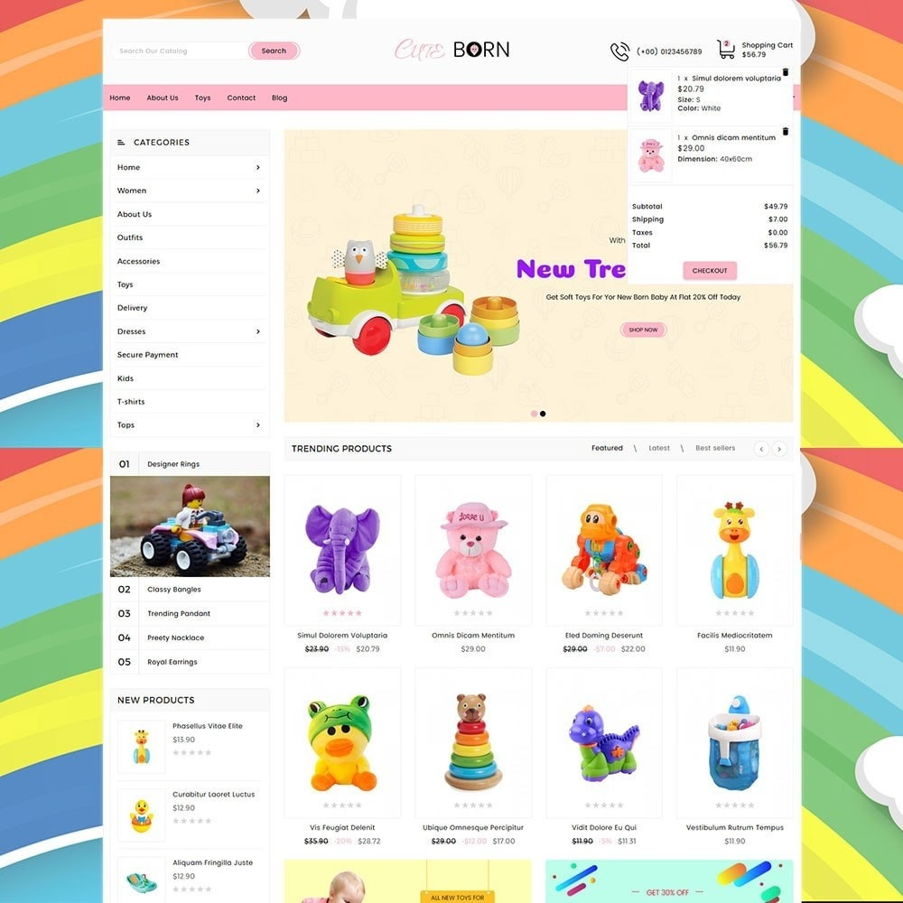 theme - Kids & Toys - Cute Born Toy Store - 3