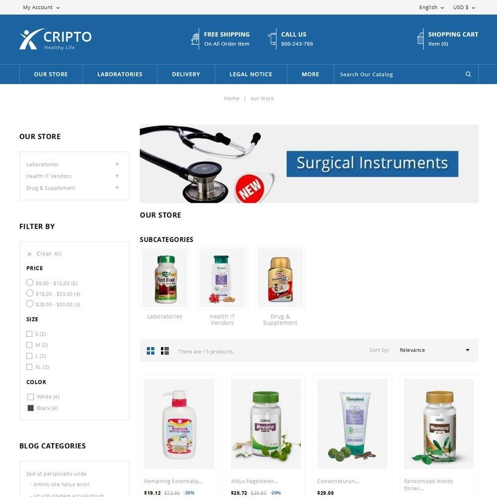 theme - Santé & Beauté - Cripto - Mega Medicine Store - 4