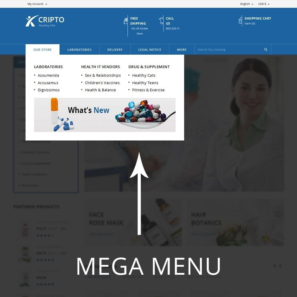 theme - Santé & Beauté - Cripto - Mega Medicine Store - 9