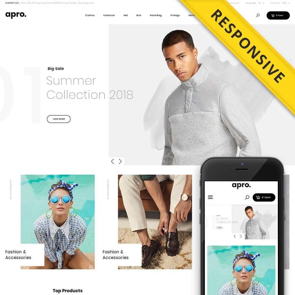 theme - Fashion & Shoes - Apro - Fashion Store - 1