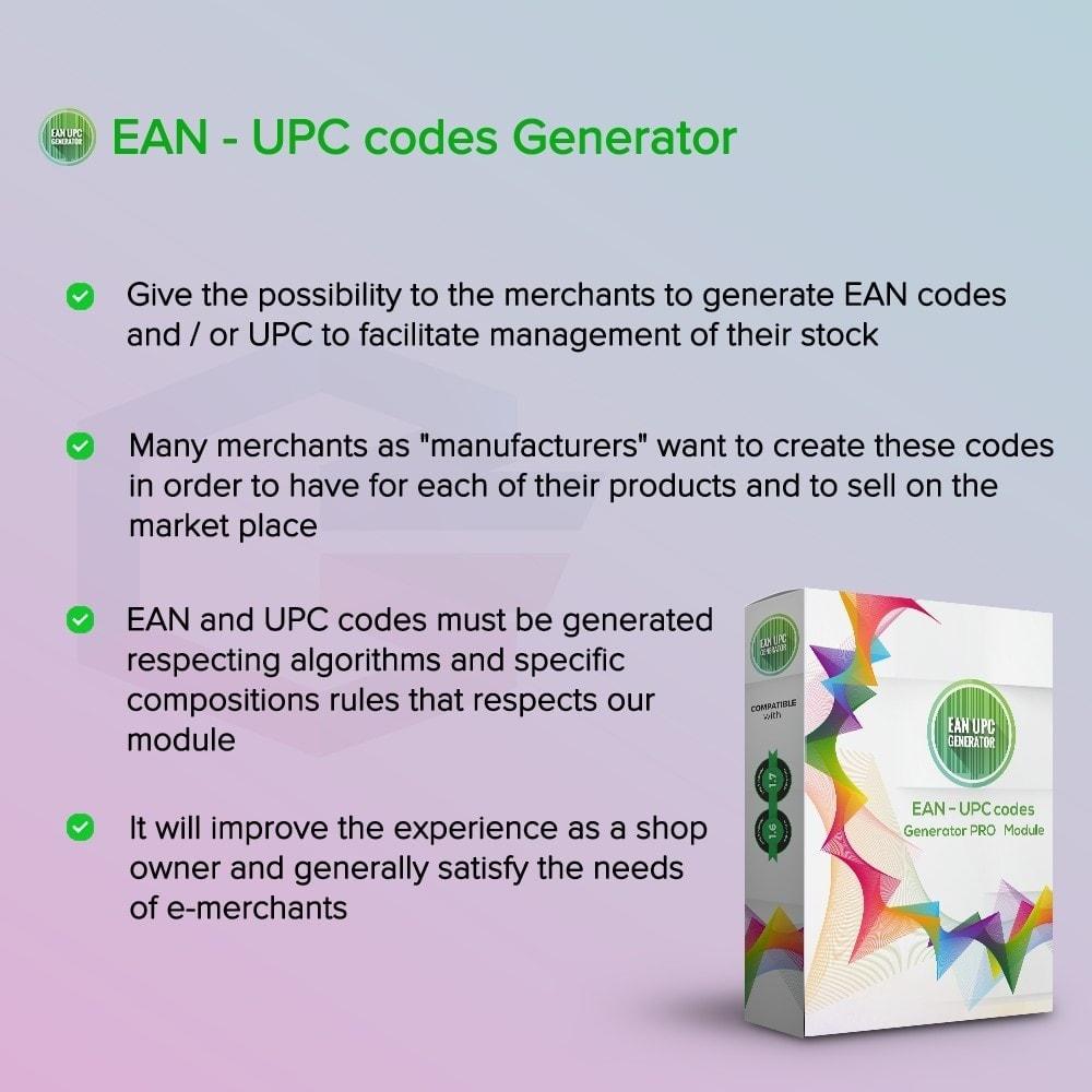 module - Gestione Scorte & Fornitori - Codici EAN - UPC Generator PRO - 1