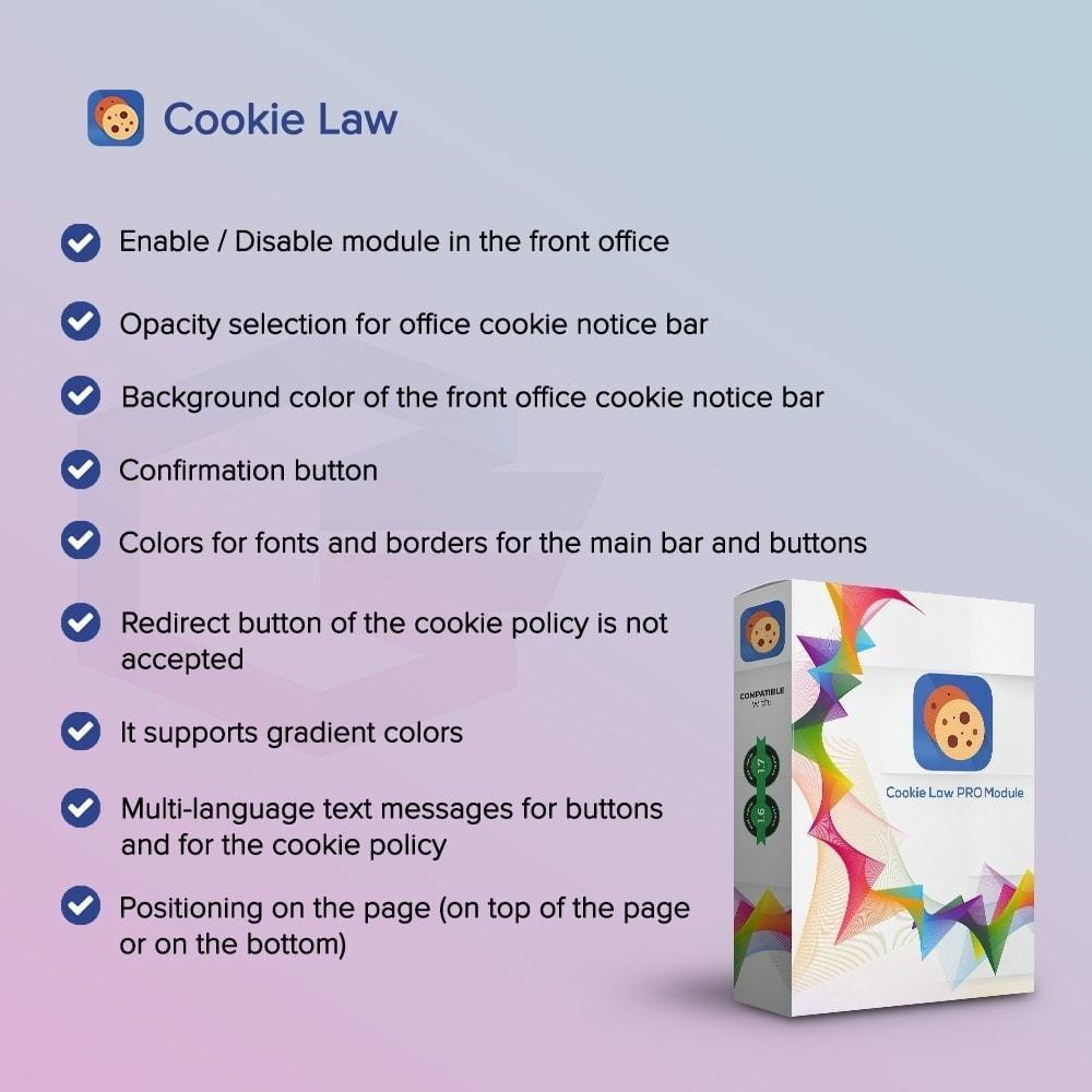 module - Legale (Legge Europea) - Legge sui Cookie PRO - 1