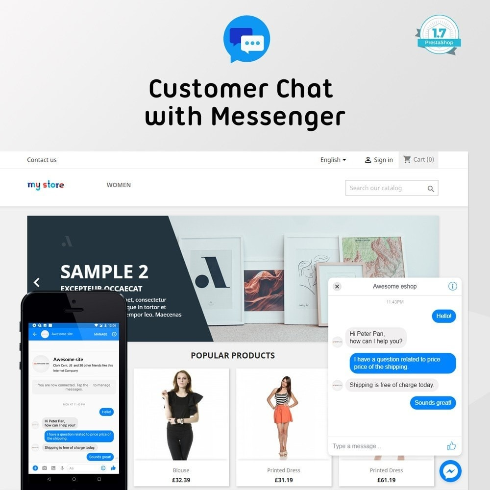 module - Asistencia & Chat online - Customer Chat - Messenger Platform - 1