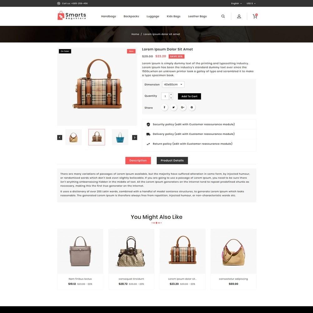 theme - Fashion & Shoes - Smart Bag Store - 4