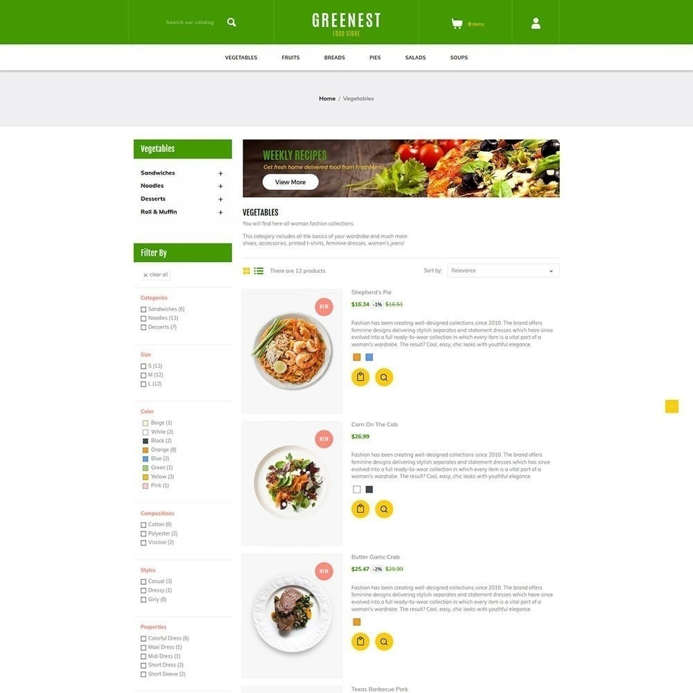 theme - Lebensmittel & Restaurants - Greenest - Lebensmittelgeschäft - 3