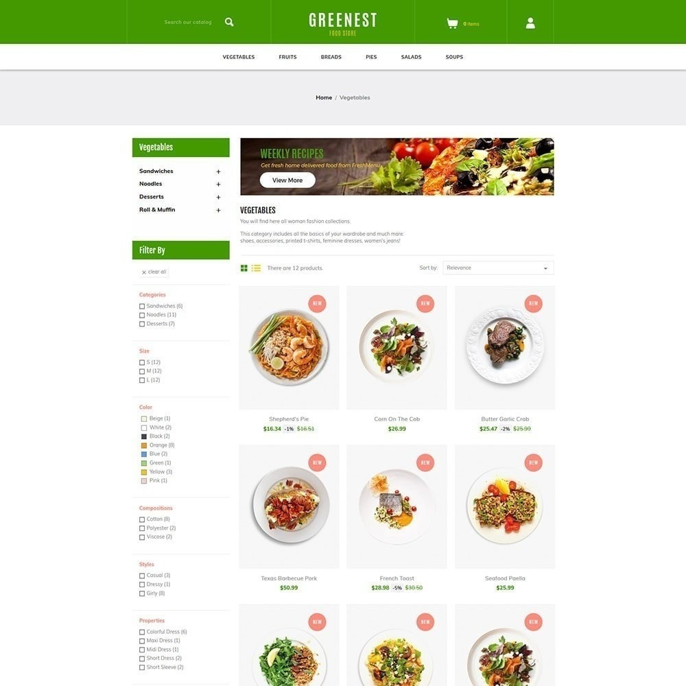 theme - Eten & Restaurant - Greenest - Food Store - 5