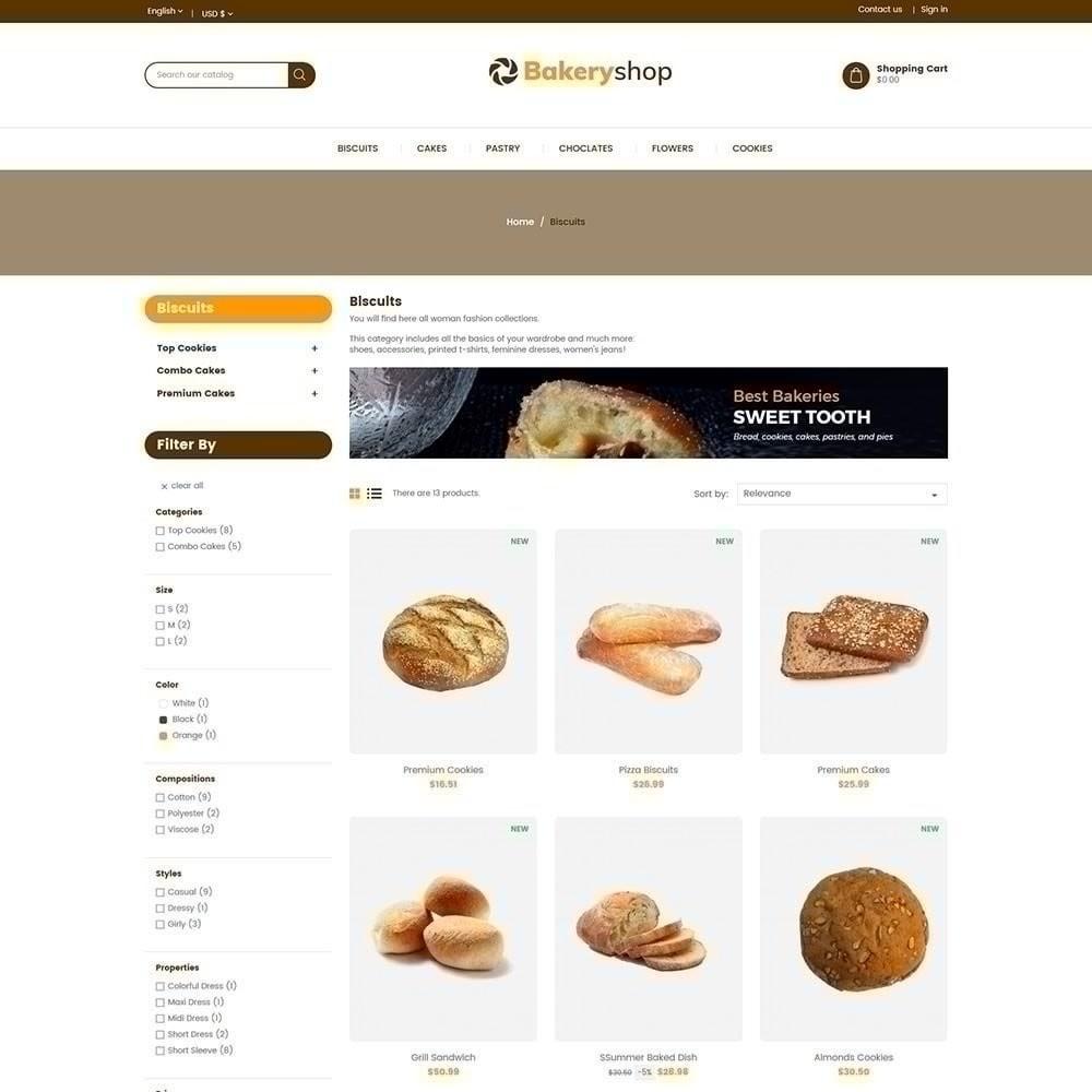 theme - Gastronomía y Restauración - Tienda de alimentos de panadería - 4