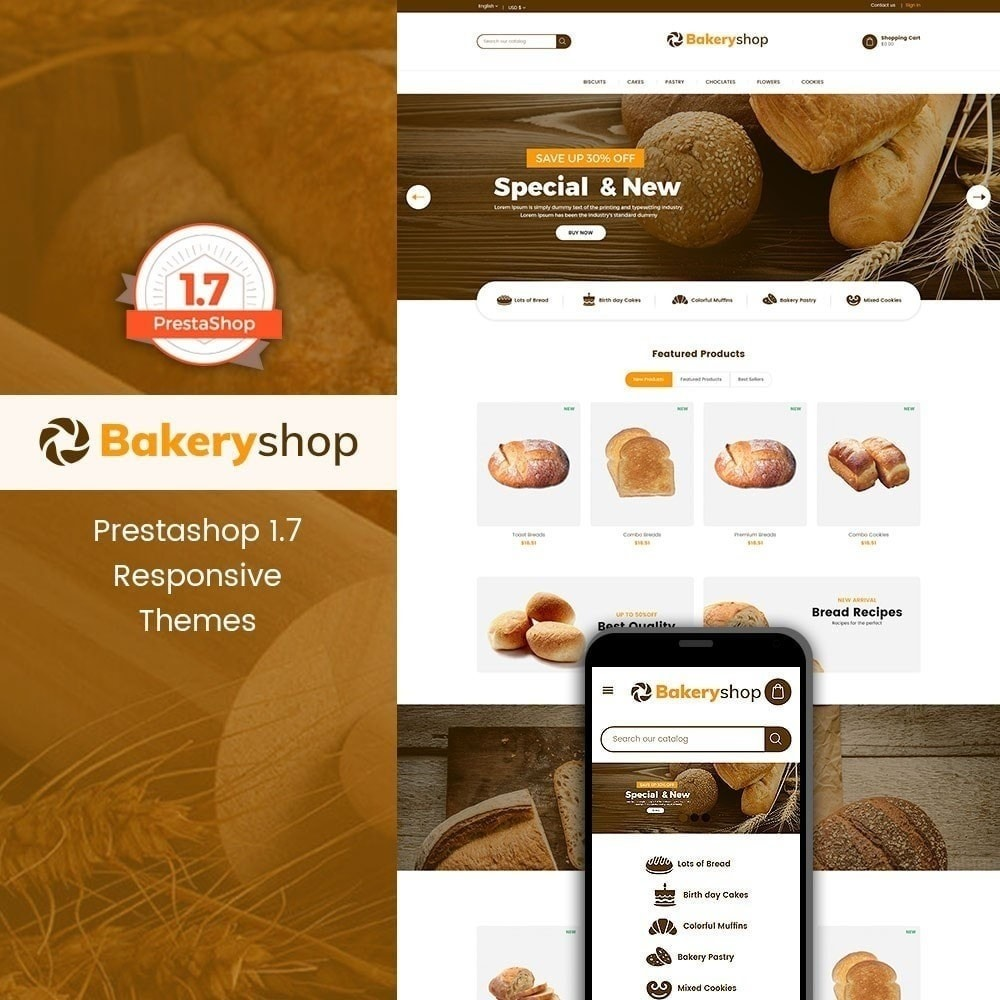 theme - Alimentos & Restaurantes - Loja de comida de padaria - 2