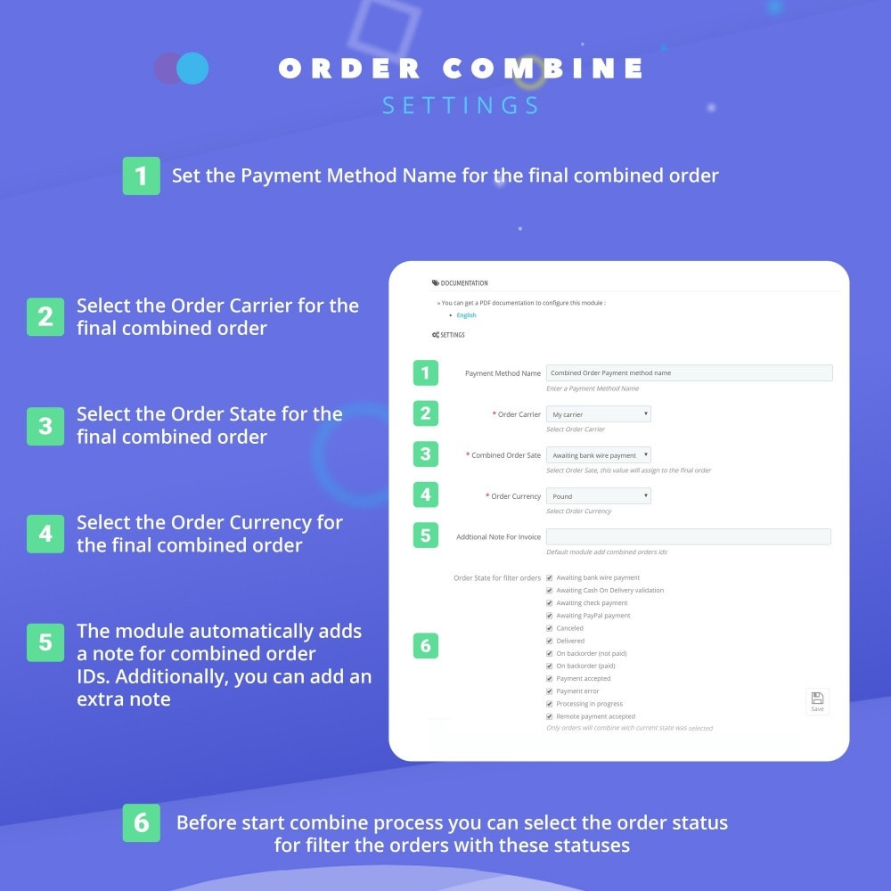 module - Order Management - Fast Combine Order / Invoice - 4