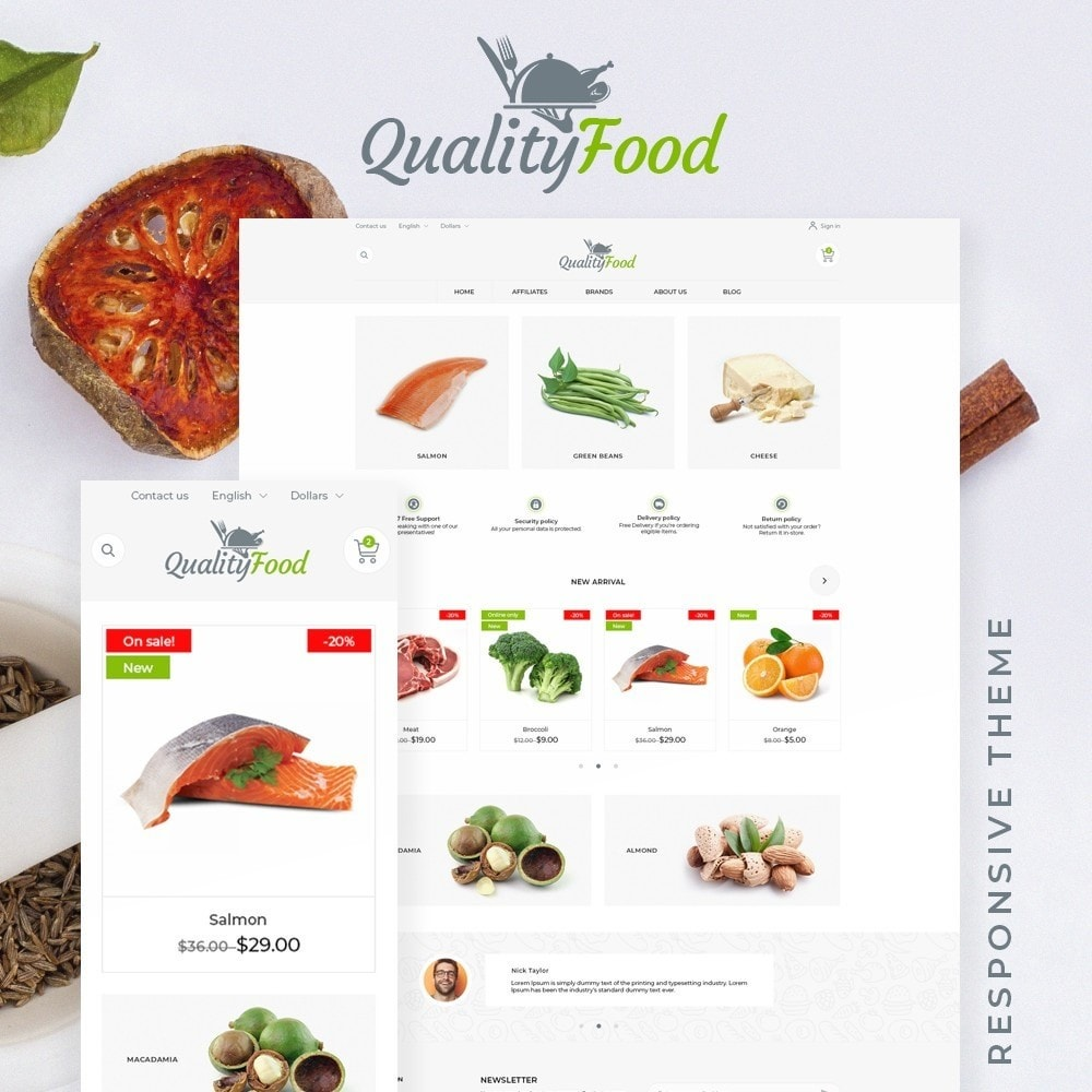 theme - Food & Restaurant - QualityFood - 1