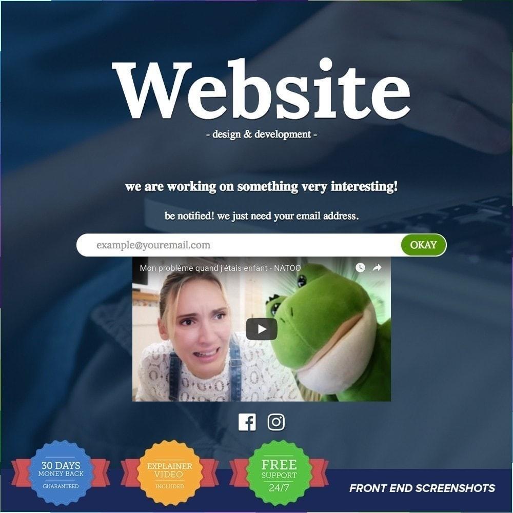 module - Personalización de la página - Página de mantenimiento personalizado - 8