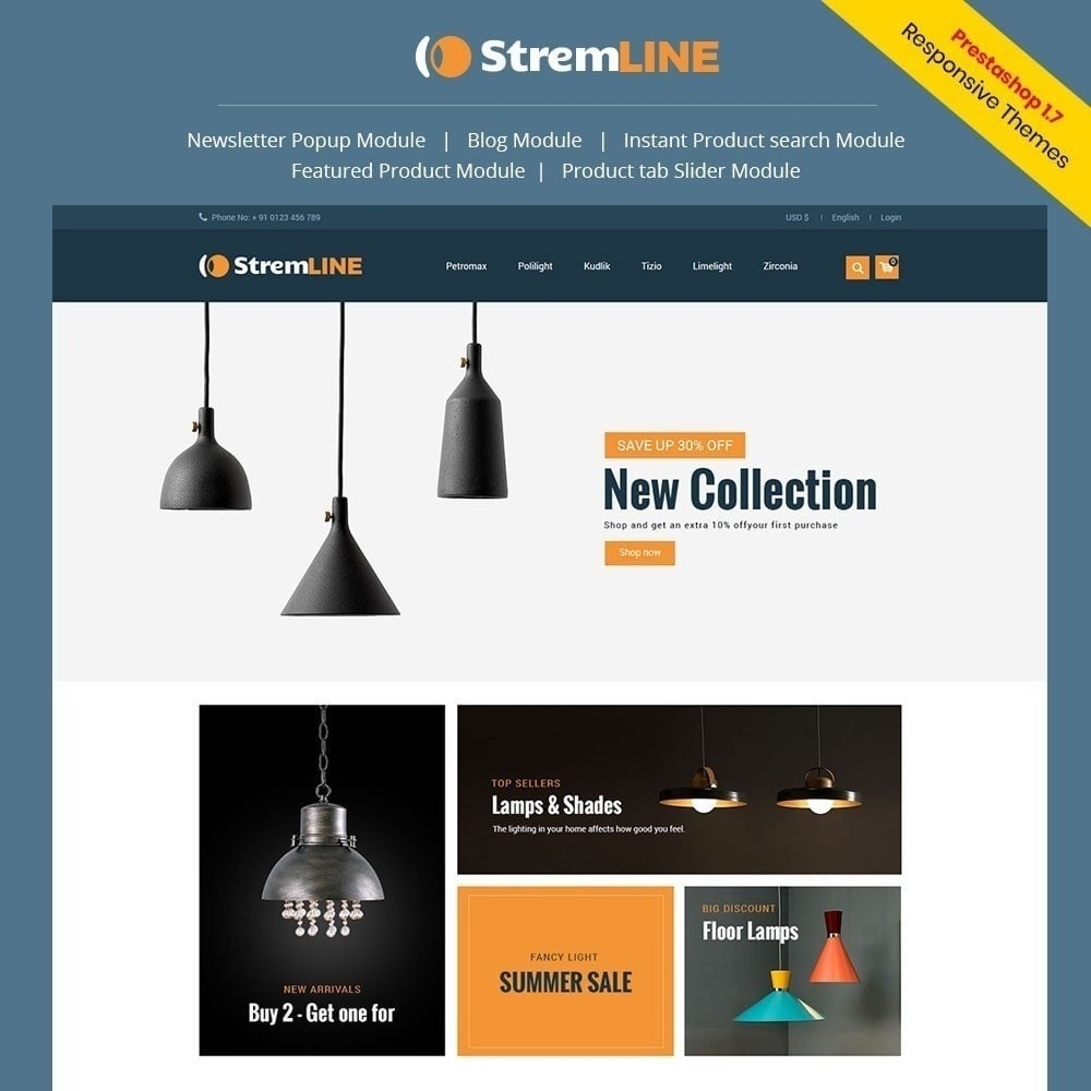 theme - Maison & Jardin - Strem Line Light Store - 1