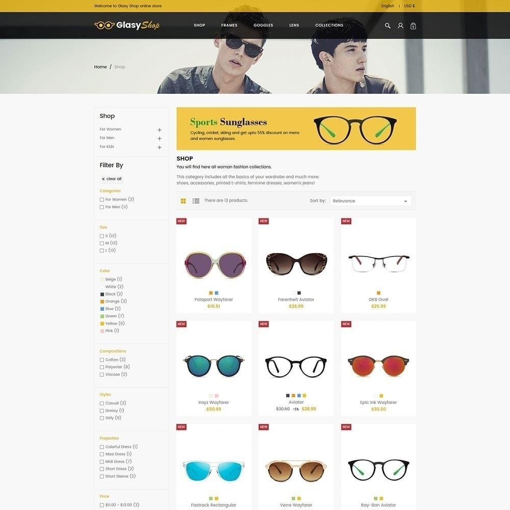 theme - Moda & Calçados - Loja de moda de vidro solar - 3