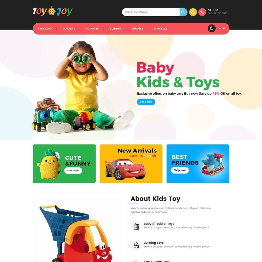 theme - Kids & Toys - Toy Joy Kids Store - 2