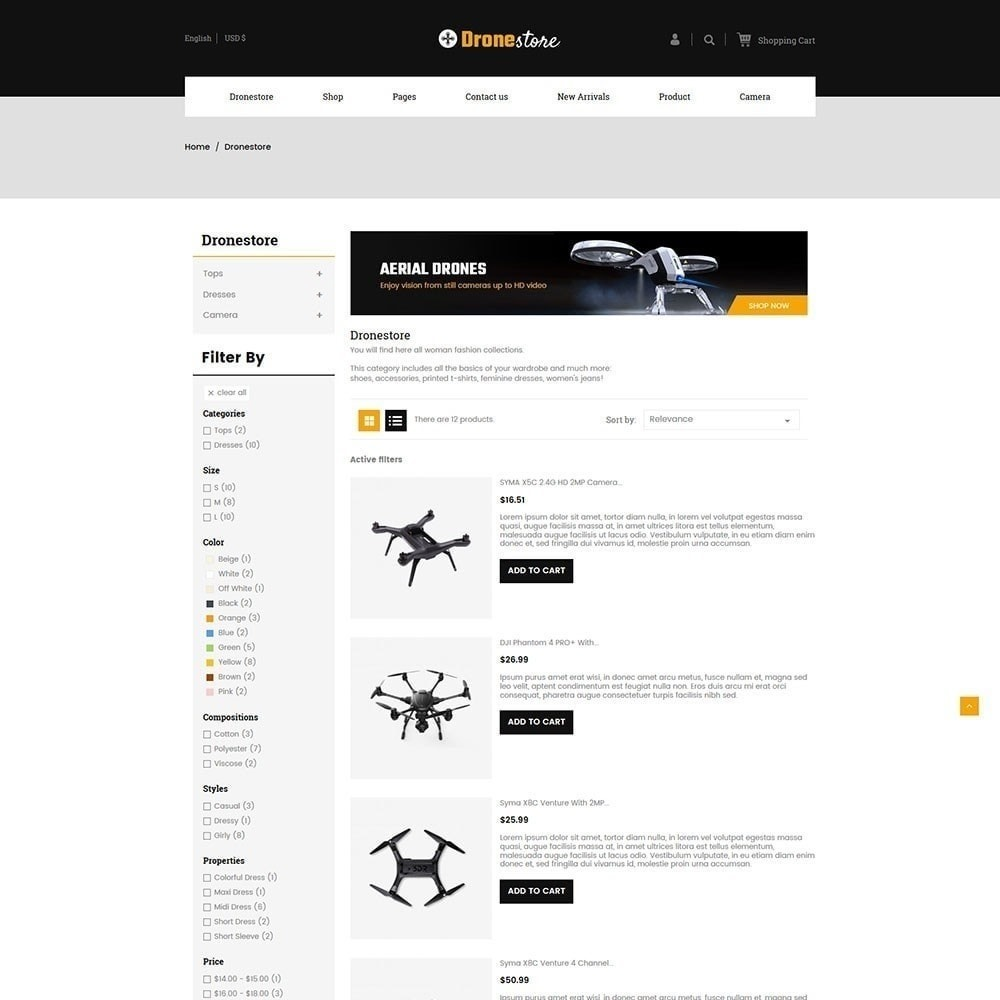 theme - Elektronik & High Tech - Drohne - Digital Store - 5