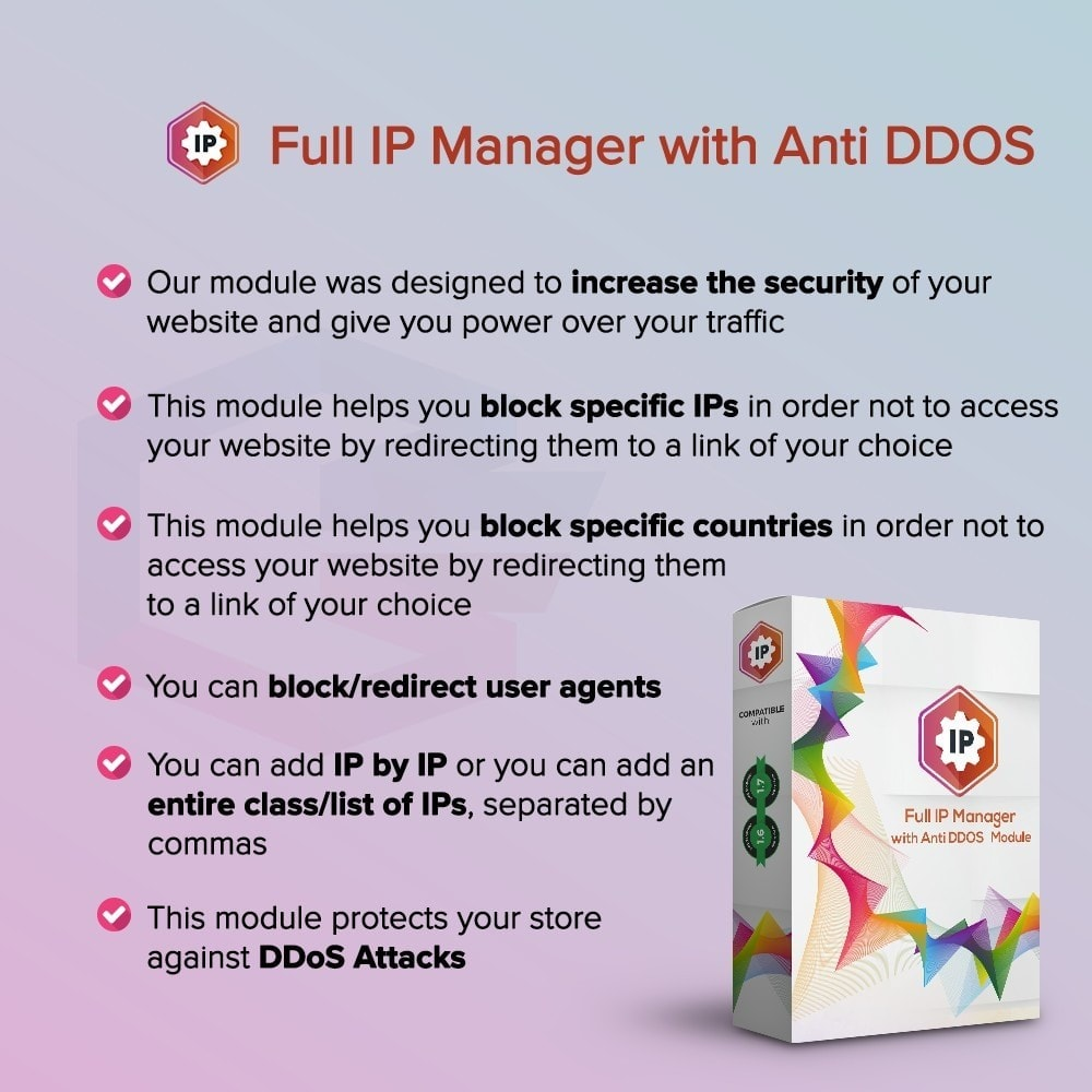 module - Security & Access - Gestore IP completo con Anti DDOS - 1