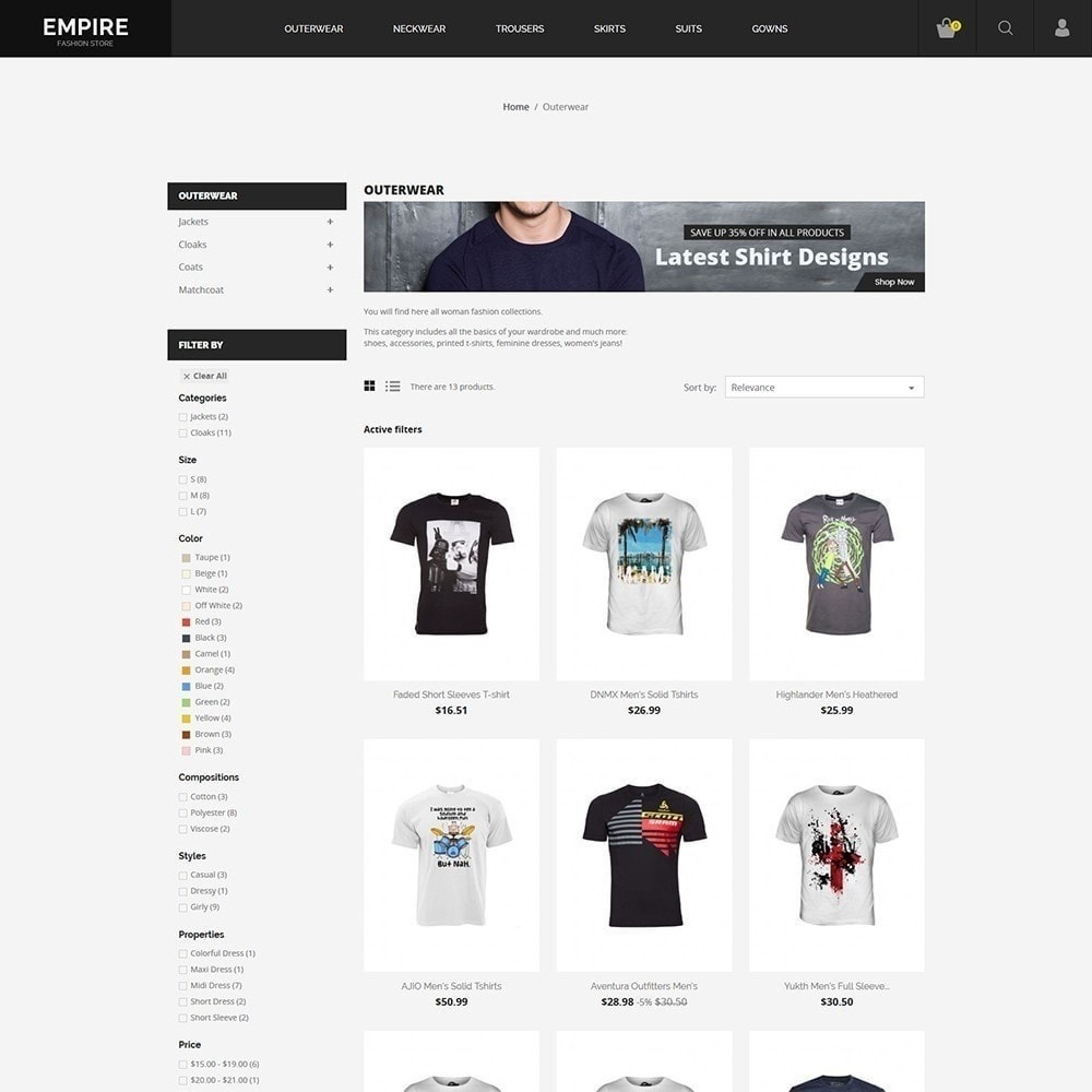 theme - Mode & Schuhe - Empire Fashion Store - 2