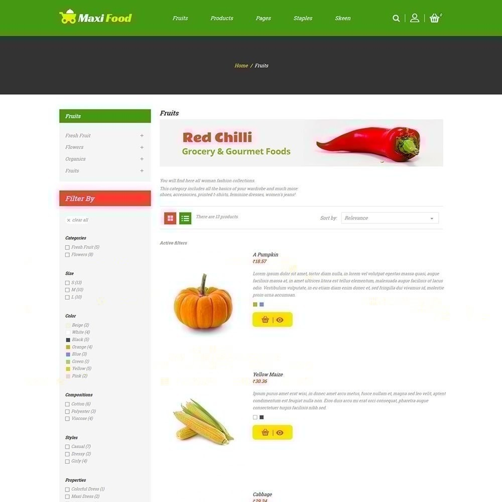 theme - Food & Restaurant - Maxi Food Store - 3