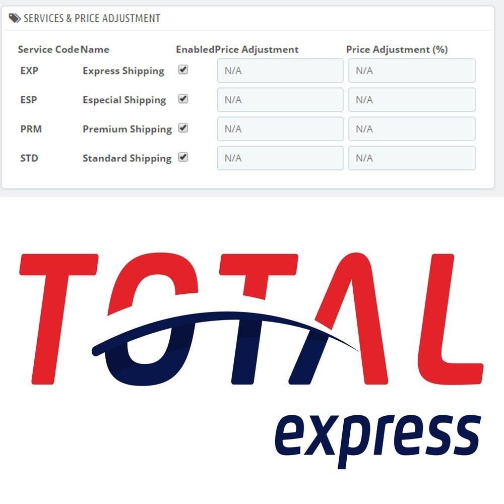 module - Custo de frete - Total Express Shipping Rates and Shipment - 1