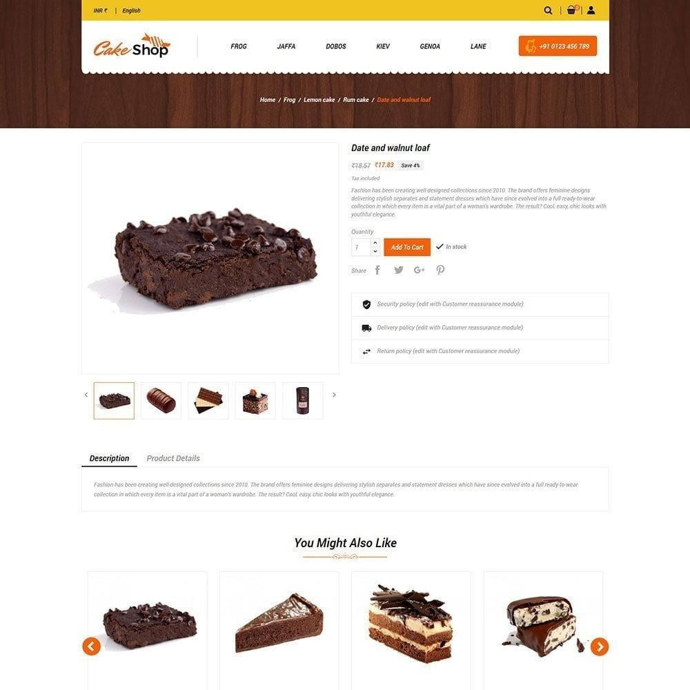 theme - Food & Restaurant - Cake Food Store - 4
