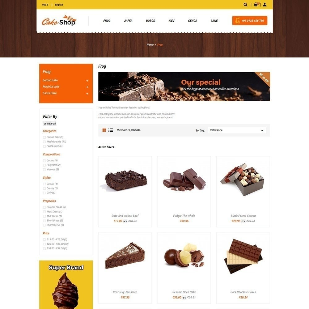 theme - Продовольствие и рестораны - Магазин пирожных - 3
