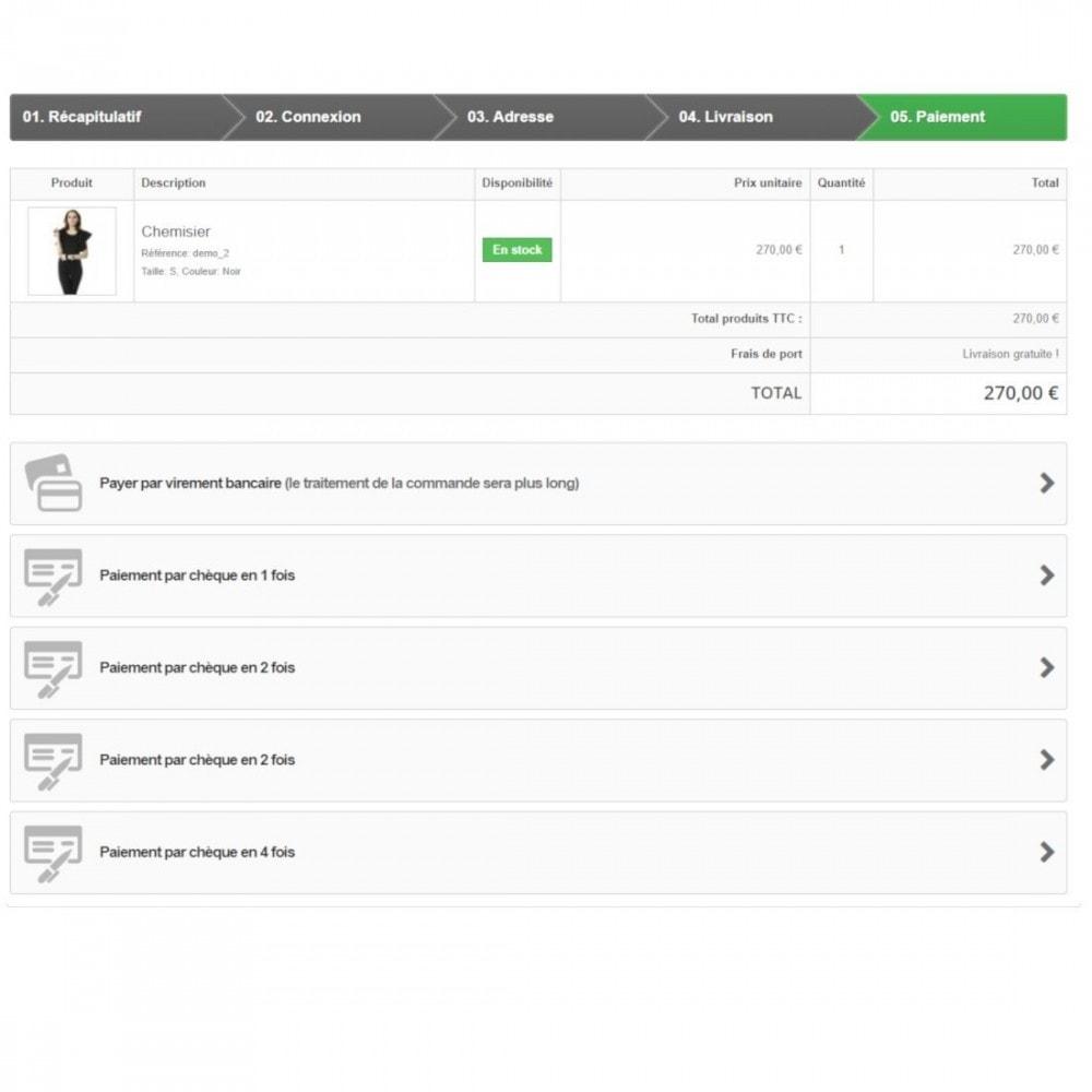 module - Autres moyens de paiement - Paiement multiple par chèque - 2
