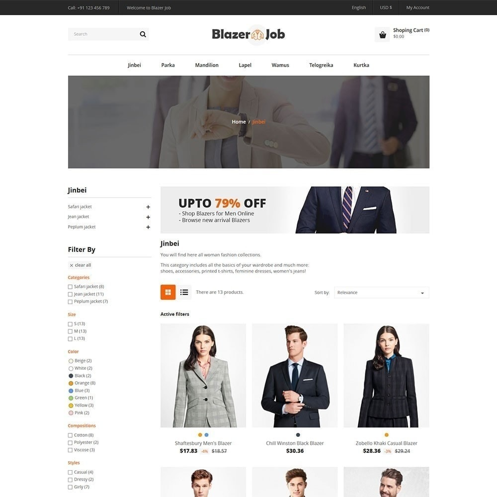 theme - Moda & Calzature - Blazerjob Fashion Store - 5